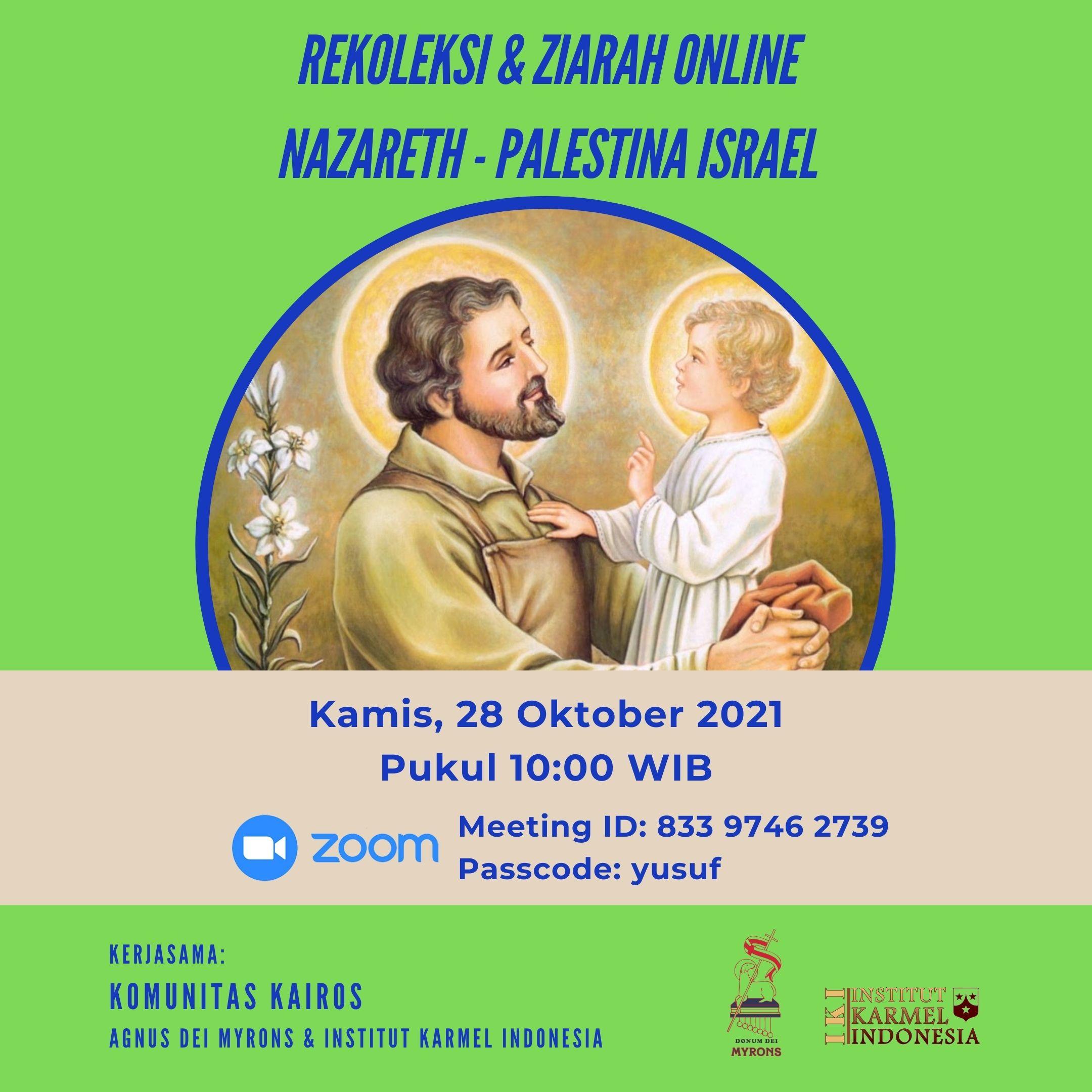 Rekoleksi dan Ziarah Online bersama Komunitas Kairos